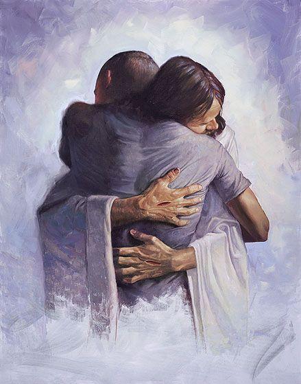 the embrace of Jesus