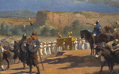 Joshua crossing the Jordan River