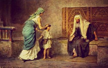 Hannah dedicates Samuel to the LORD