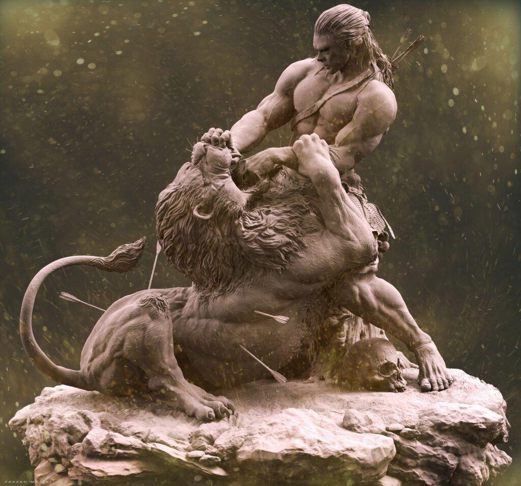 Samson and the Lions