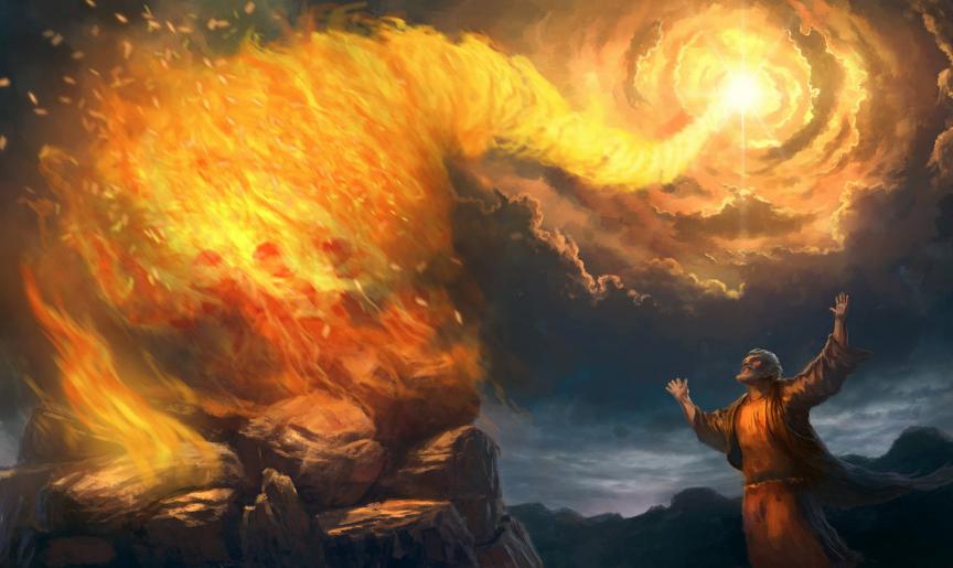 Elijah prophets of Baal contest