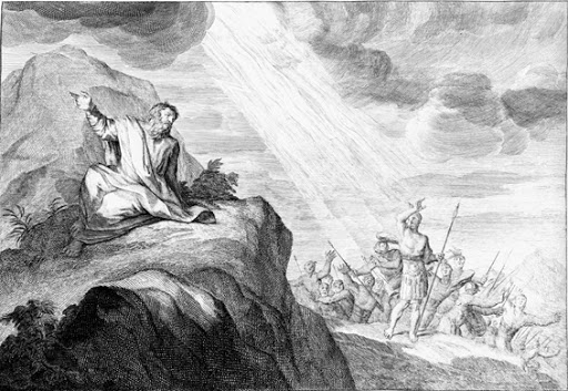 Elijah and the messengers of king Ahaziah