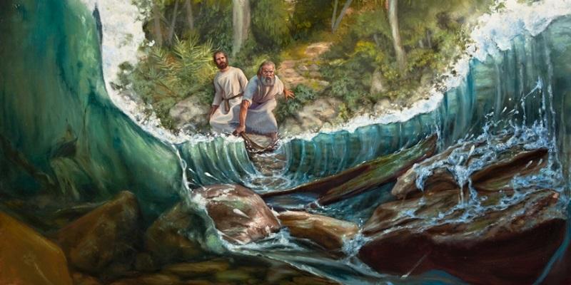 Elijah parts the Jordan River