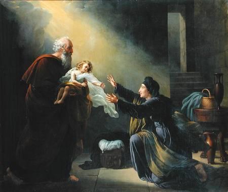 Elijah brings the widows son back to life