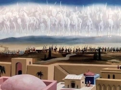 Elisha calls on the invisible army of God