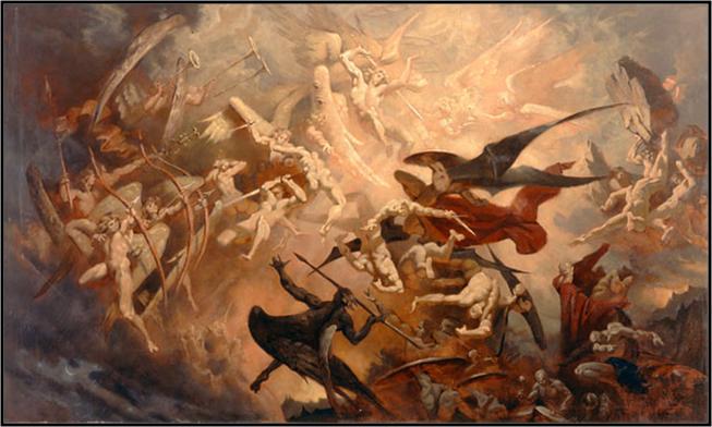 war in heaven between the angels and demons